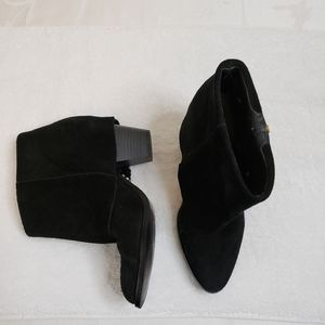 Black Suede Ankle Booties by Rachel Roy